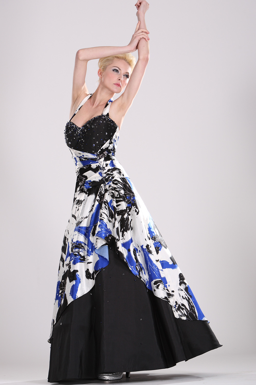 eDressit Halter Herz-Schnitt floral Satin Abendkleid (28100268)