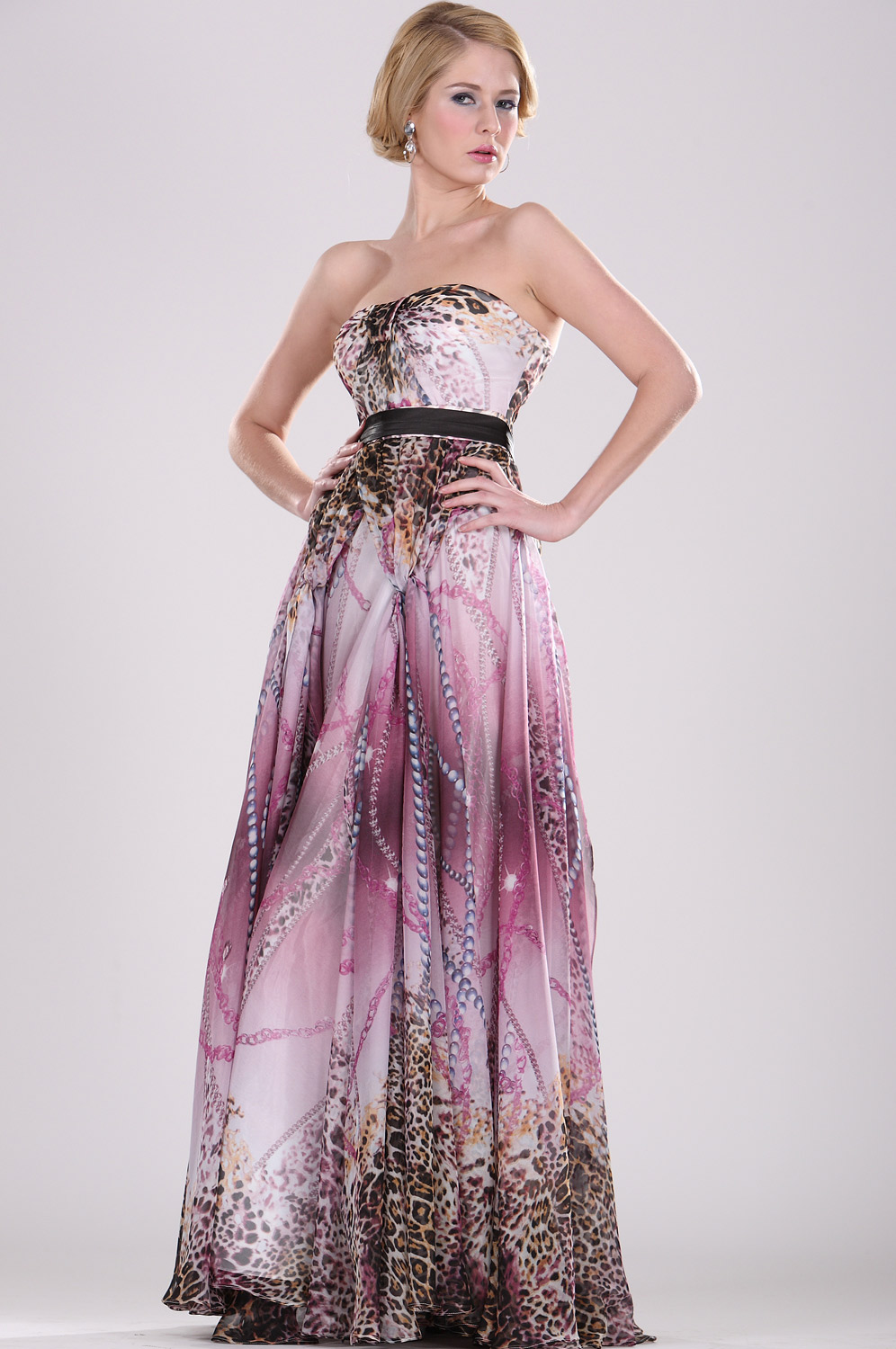 eDressit Strapless Floral Evening Dress (00090606)
