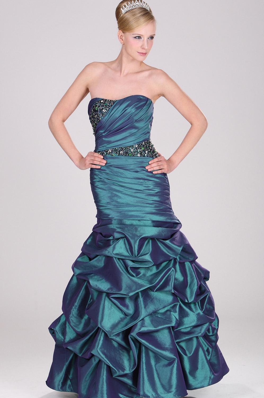 eDressit Trägerlos  Elegant großartig leuchtend Perlen Abiballkleid (28100704)