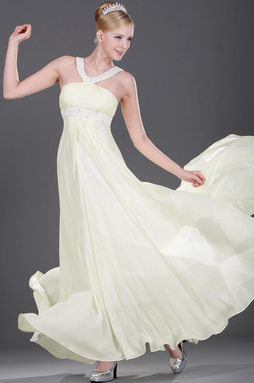 eDressit Vestido de Noche de Abalorios de Marfil (00106607)