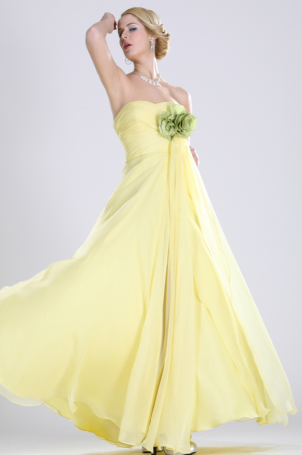 eDressit Cute Yellow Evening Dress (00102903)