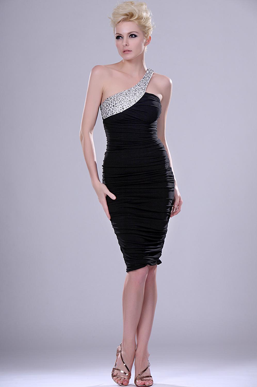eDressit New Elegant Single Shoulder black dress (04112800)