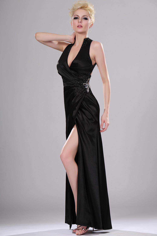eDressit Sexy Black V-neck Evening Dress (00114600)