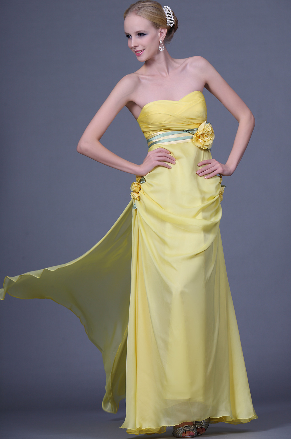 eDressit Sweetheart Strapless Evening Dress with Flowers (00110803)
