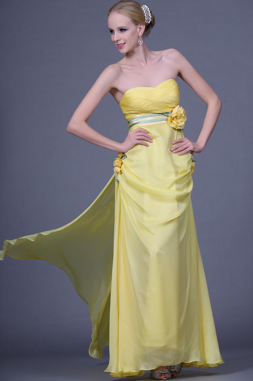 eDressit  Милое вечернее платье с цветами без бретелек (00110803)