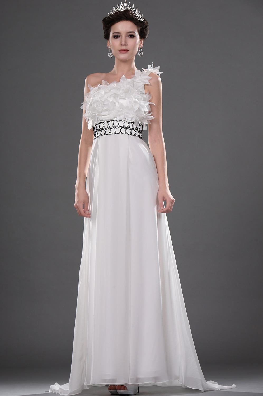 eDressit Elegante Blanco Solo hombro Vestido de Boda (01111107)