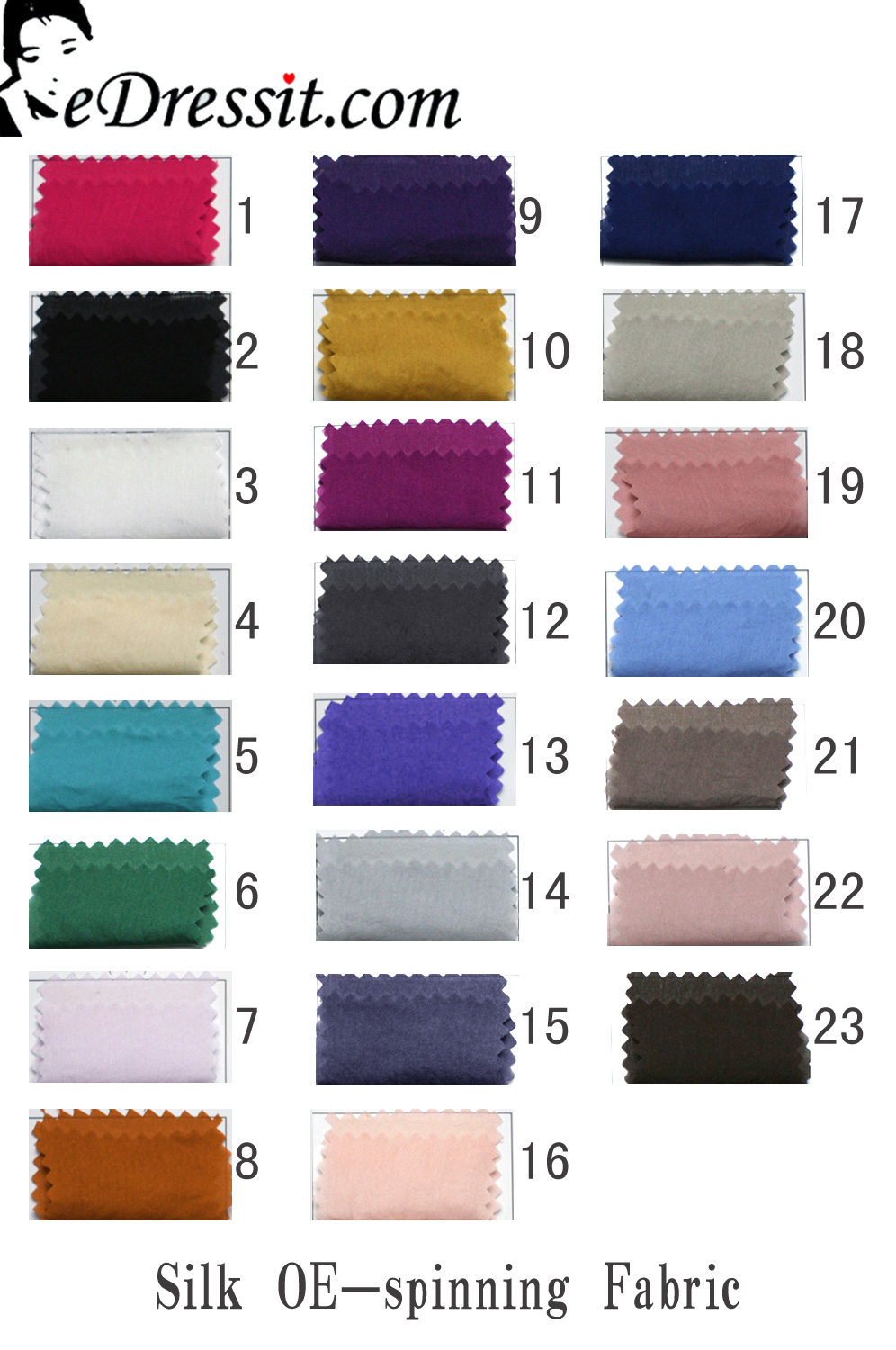 eDressit Silk OE-Spinning Color Chart (64100201A)