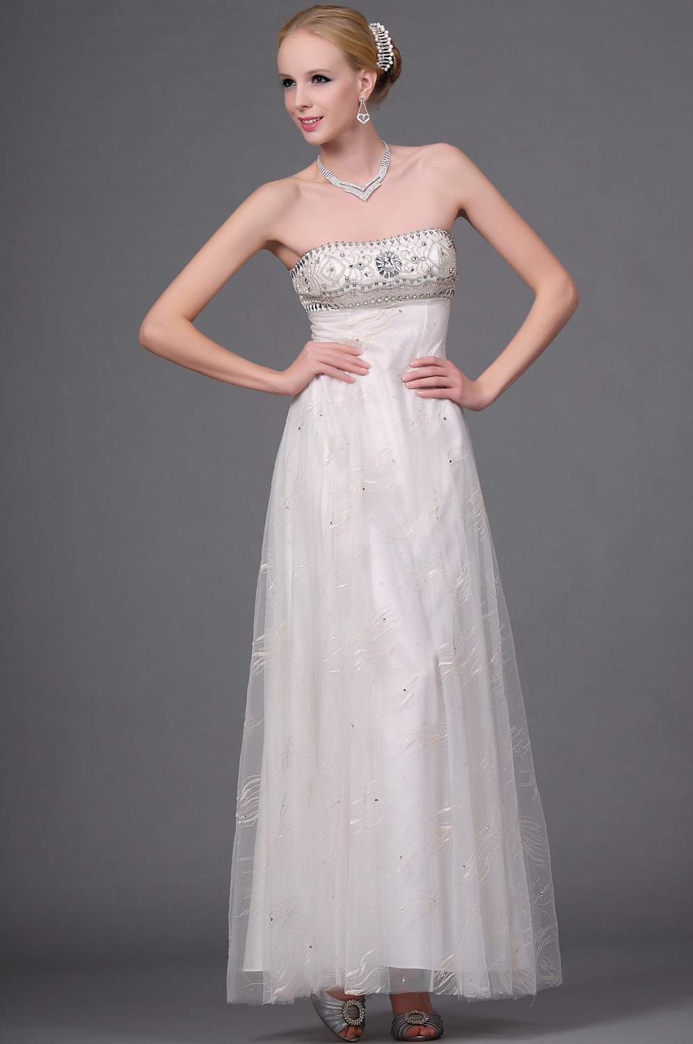 eDressit New Strapless Beaded Eveing Dress (00111713)