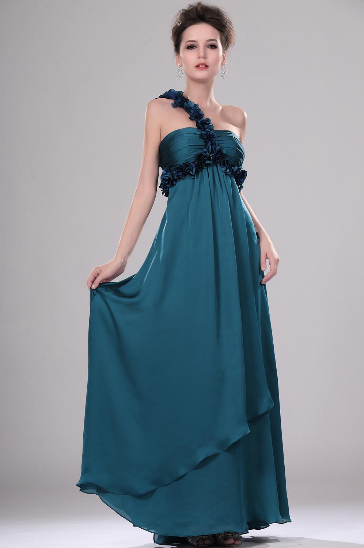 eDressit Maravilloso Vestido de Noche solo hombro Con adornos florales (00114905)