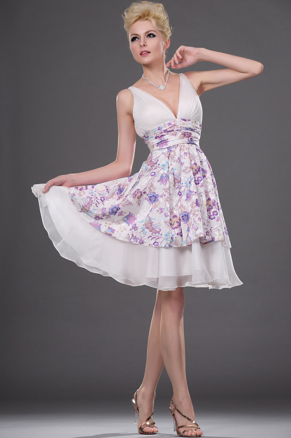 eDressit 2011 Sexy Little Floral V-neck Party Dress (04110868)
