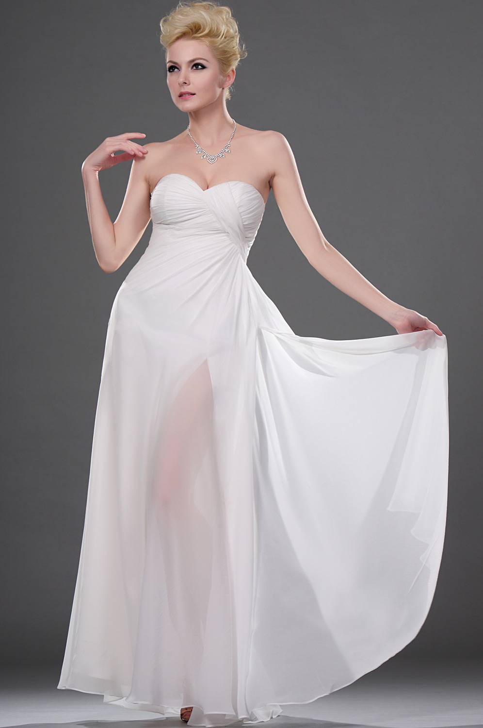 eDressit On Sale Fabulous White Strapless Evening Dress (00113007B)