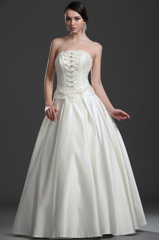 eDressit  Nuevo vestido fabuloso Sin tirante Vestido de Boda Con perlas (01112413)