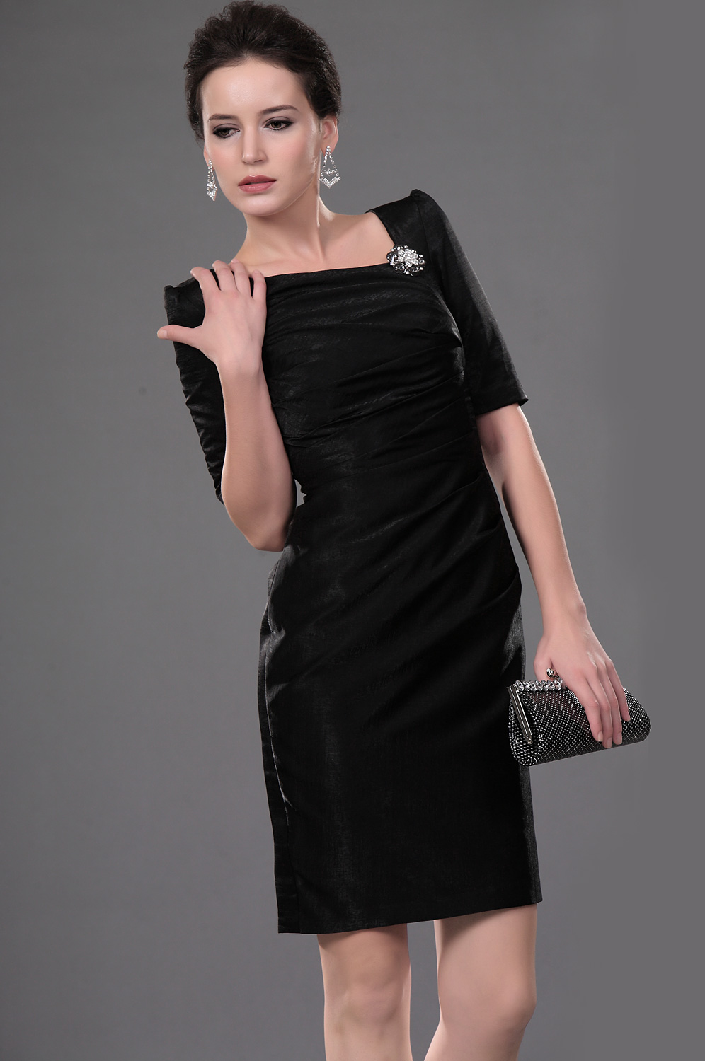 eDressit New Style Black Pleated Office Dress Cocktail Dress (26111000)