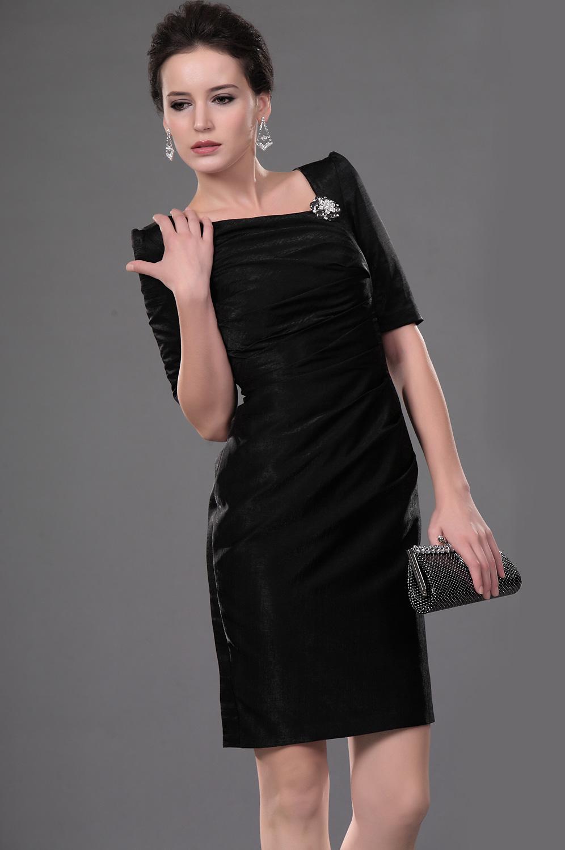 eDressit Neu stilvoll schwarz gefaltet Office Kleid Cocktail Kleid (26111000)
