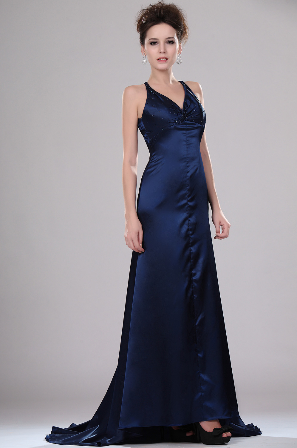 eDressit  Elegant Fitted V-neck Evening Dress (00114805)