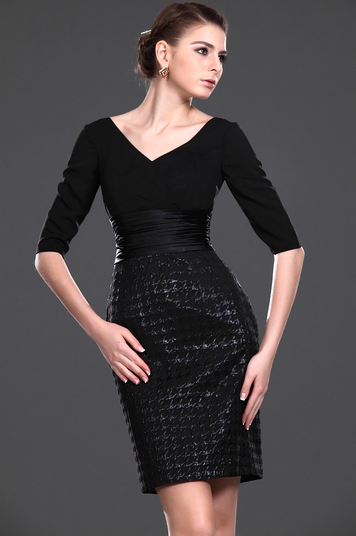 eDressit Novedad Magnifico Negro Escote en V Vestido de ceremonia para dama (26112900)