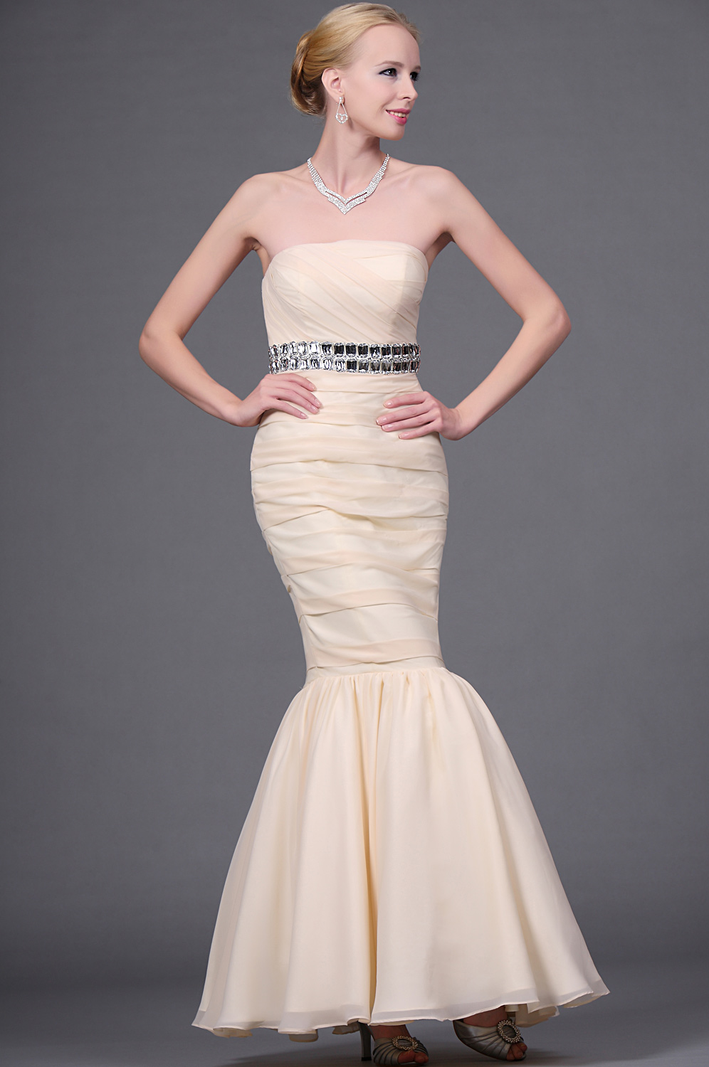eDressit New Sensitive Strapless Fitted Evening Gown (00111014)
