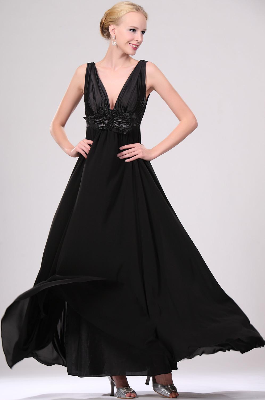 eDressit New Sexy Black V-cut Evening Dress (00109100)