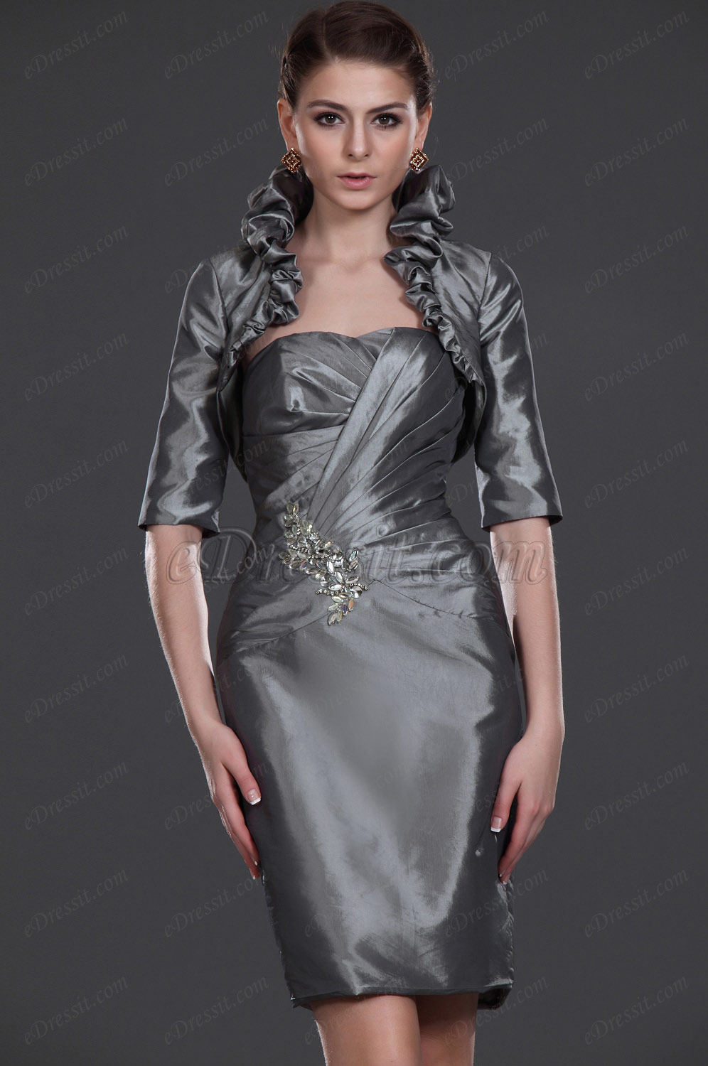 eDressit New Charming Grey Two Piece Mother of the Bride Dress (26113508)
