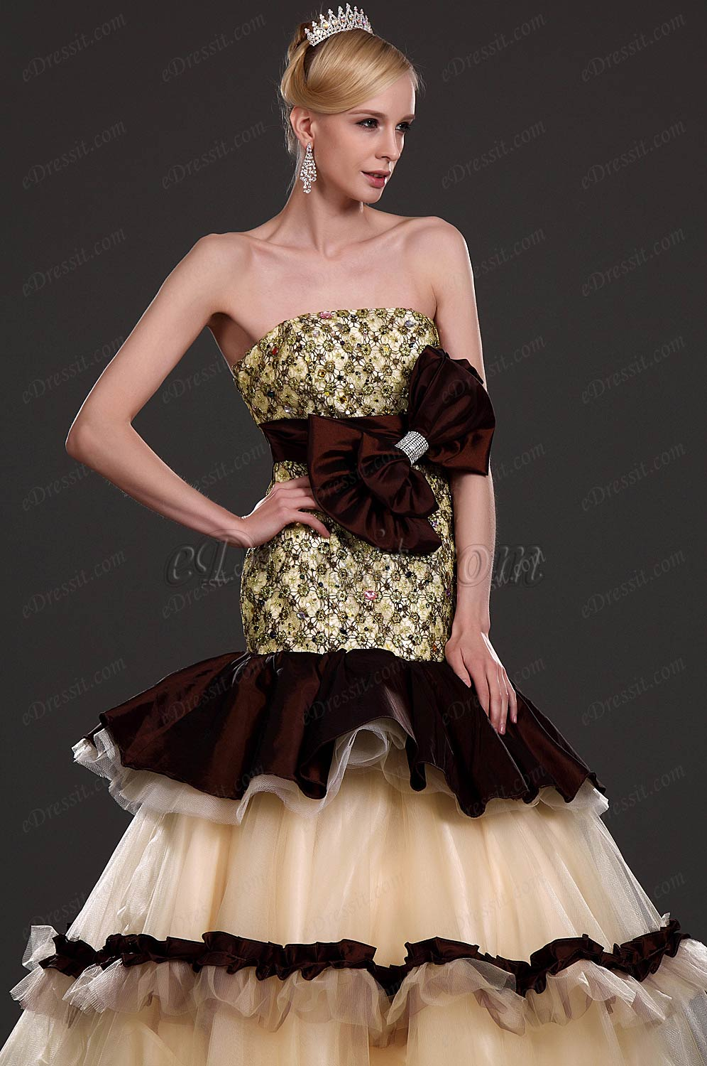 eDressit New Alluring Strapless Prom Gown (31110620)