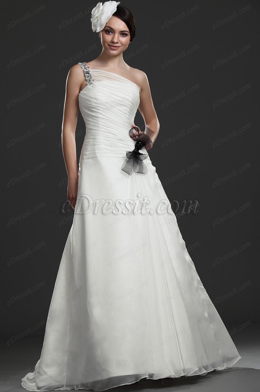 eDressit  Recien llegado Maravilloso Solo hombro Vestido de Novia Vestido de Noche (01115907)