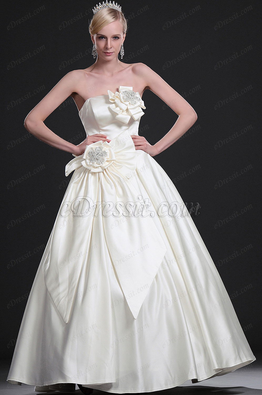 eDressit New Graceful Strapless Wedding Gown (01113313)
