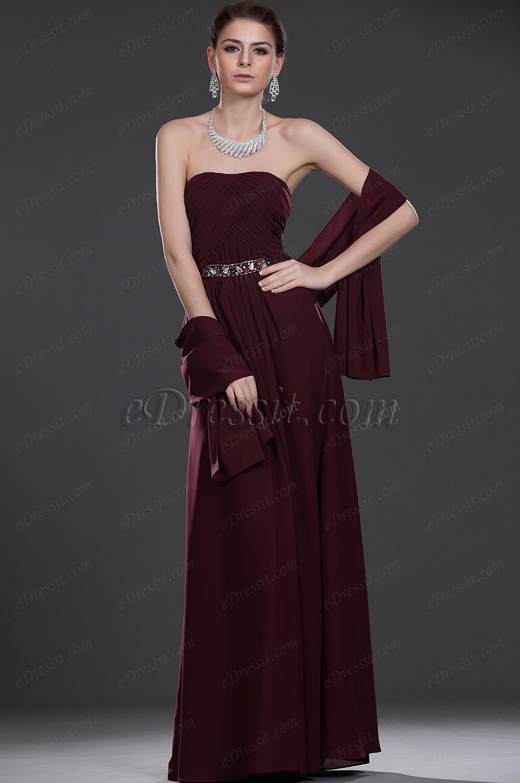 eDressit Recien llegado Elegante Largo Vestido de ceremonia para Dama  Vestdio de madrina (26114417)