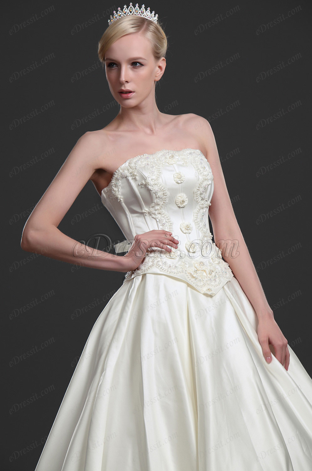 eDressit New Elegant Strapless Wedding Gown (01113213)