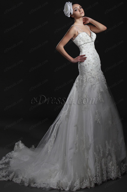eDressit  Neue Artikel Wunderbares Weiss Lace Brautkleid (01115107)