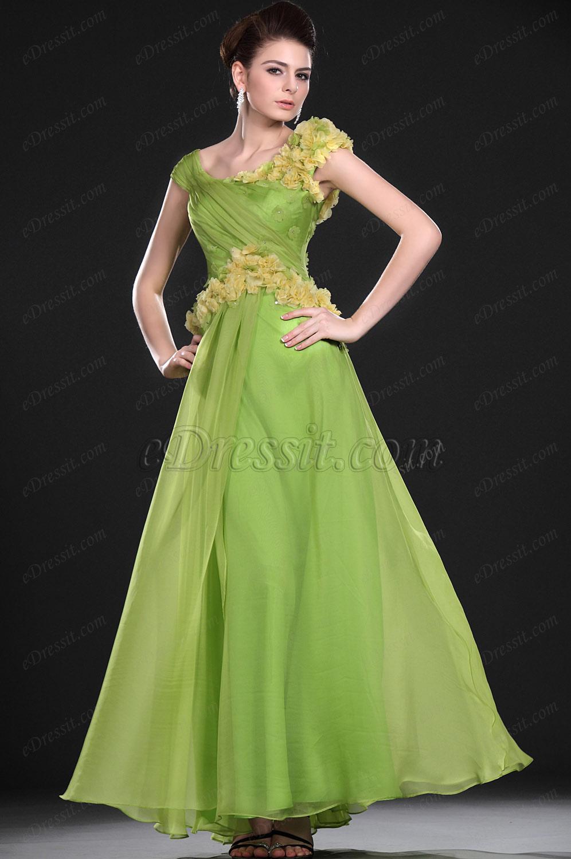 eDressit Новое стильное зеленое вечернее платье (00118304)
