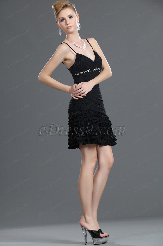eDressit New Fringe Black Party Dress (35111000)