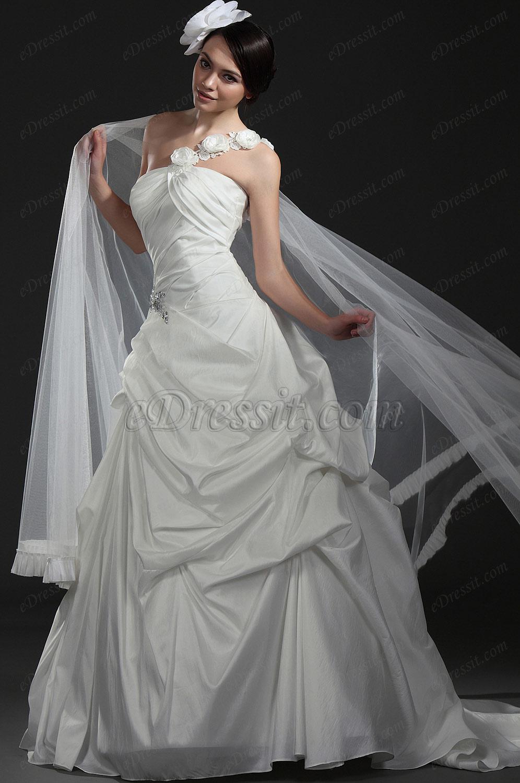 eDressit Новое элегантное белое свадебное платье (01115407)