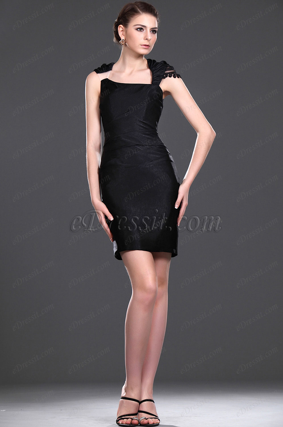 eDressit New Elegant Black Fitted Mother of the Bride Dress (26113100)