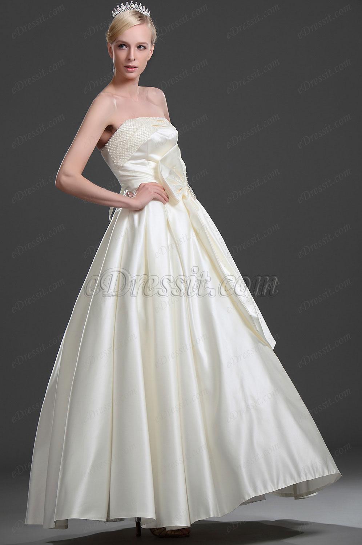 eDressit Elegante Vestido de Boda Sin tirante (01114613)