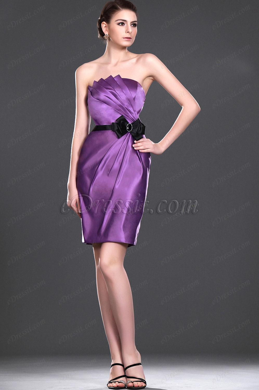 eDressit новое модное  фиолетовое платье для свидетельницы без бретелек (07110206)