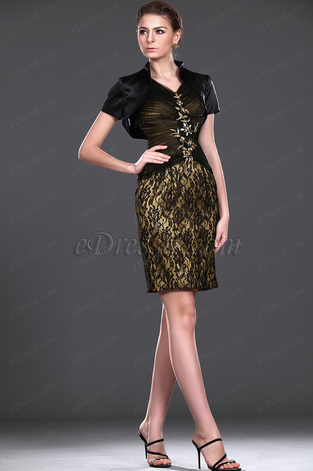 eDressit New V-neck Two Pieces Mother of the Bride Dress (26112300)