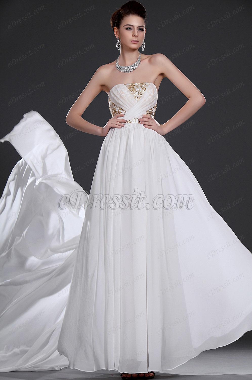 eDressit  Elegante Sin tirante vestido de noche (00116907)