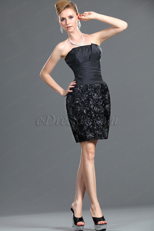 eDressit Новое черное платье без бретелек (35110400)
