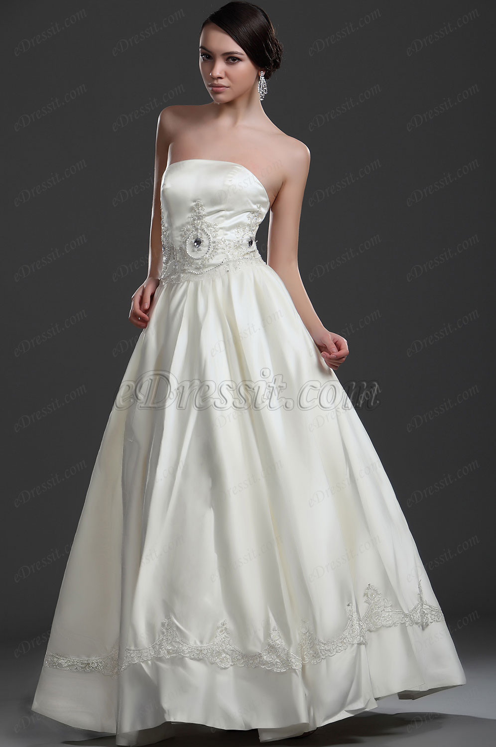 eDressit New Elegant Strapless Wedding Gown (01114313)