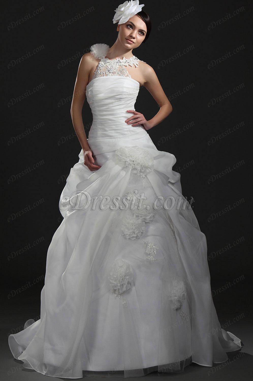 eDressit Новое великолепное белое свадебное платье (01115507)