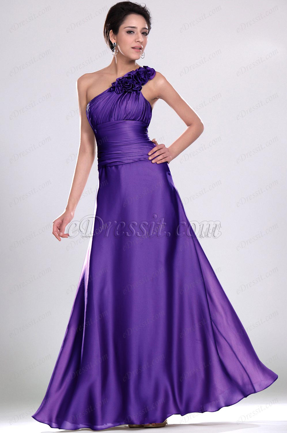 Clearance Sale! eDressit Purple Evening Dress--Size UK8 (00118408b)