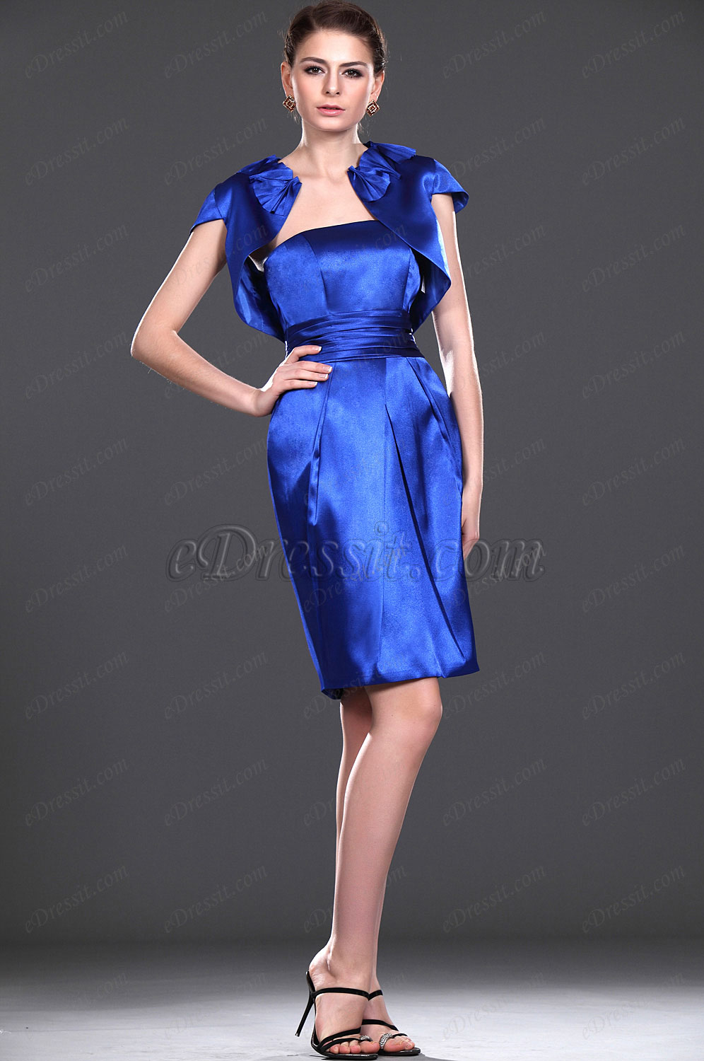 eDressit New Shiny Blue Two Pieces Mother of the Bride Dress (26112405)