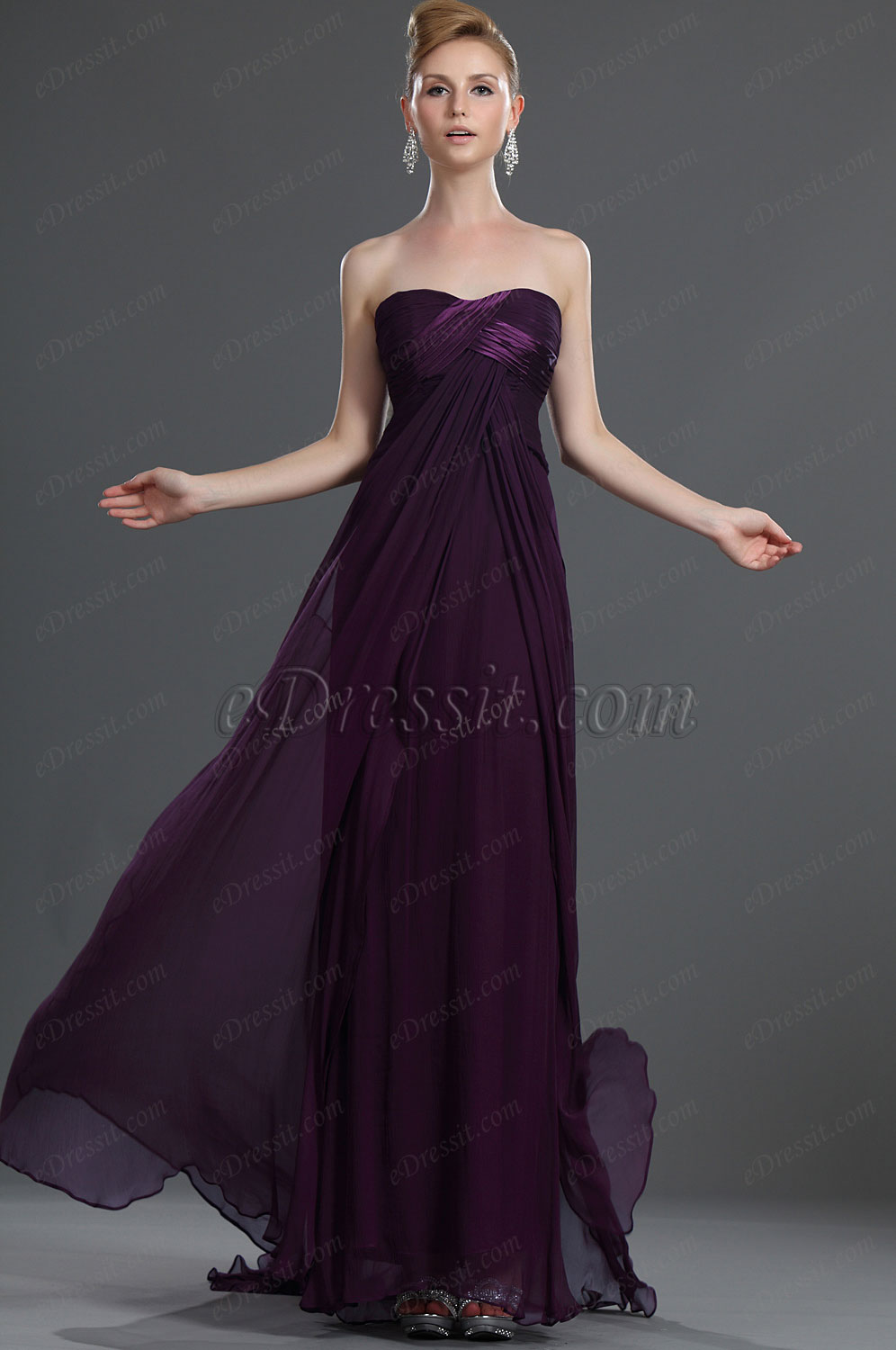 eDressit New Marvellous Strapless 100% Silk Evening Dress (00098112)