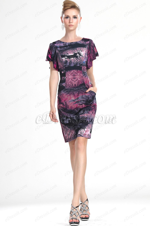 eDressit Новое стильное цветочное платье на каждый  день (03112468)