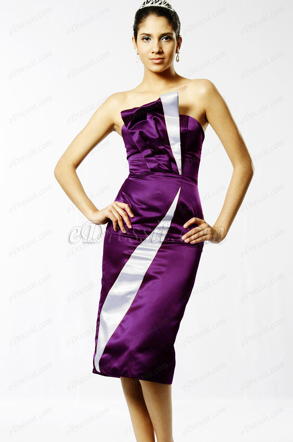 Clearance Sale !  eDressit Purple Evening Dress--Size UK8 (04094200b)