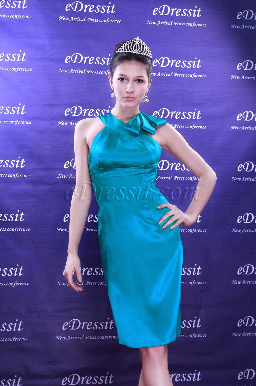 Clearance Sale! eDressit Blue Cocktail Dress--Size UK6 (04090805b)