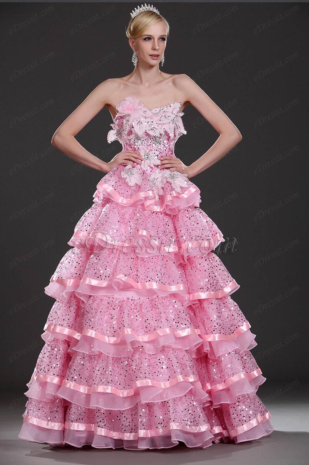 eDressit New Strapless Pink Prom Gown (31110101)