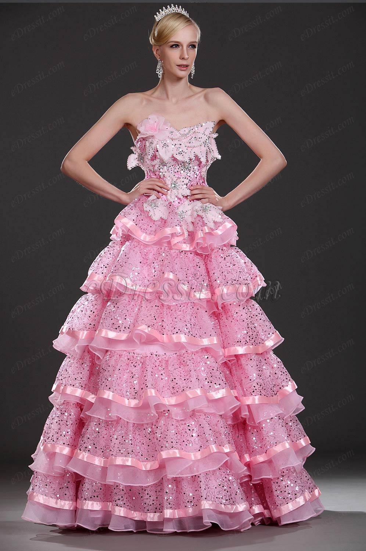 eDressit Новое розовое  вечернее платье без бретелек (31110101)