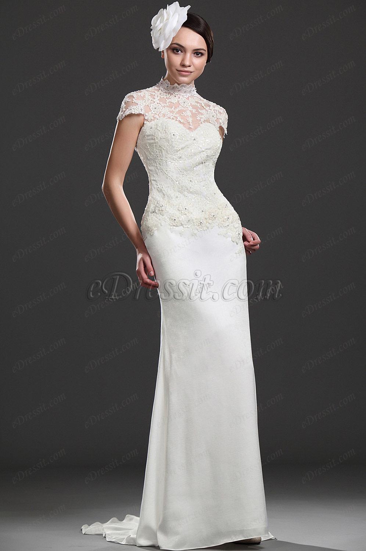 eDressit Элегантное свадебное платье с кружевами (01115607)