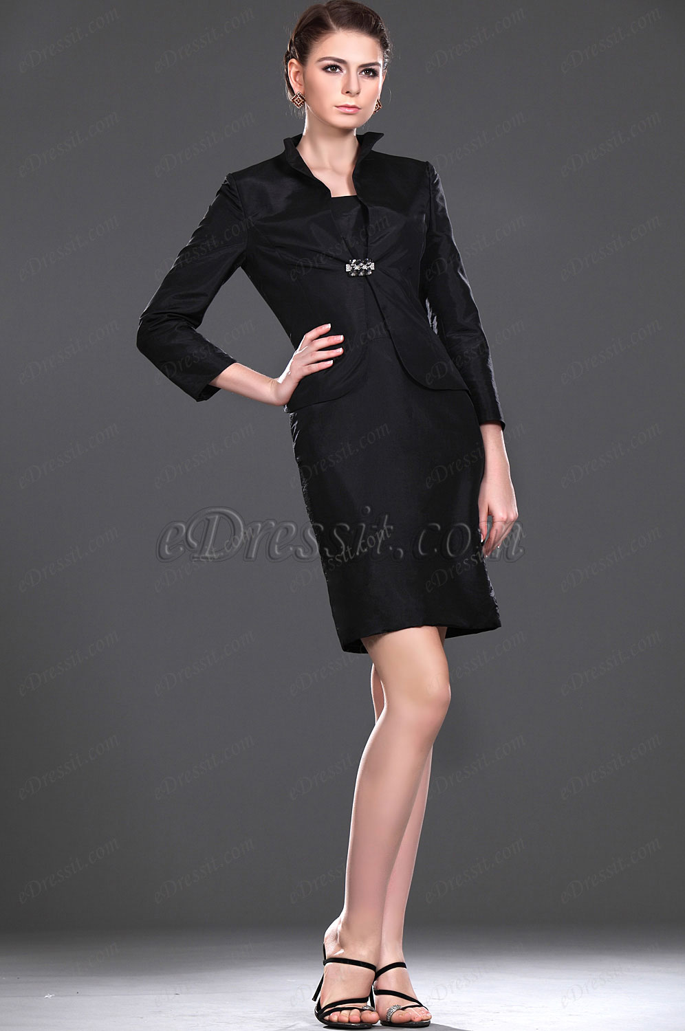 eDressit New Elegant Black Two Pieces Mother of the Bride Dress (26112700)
